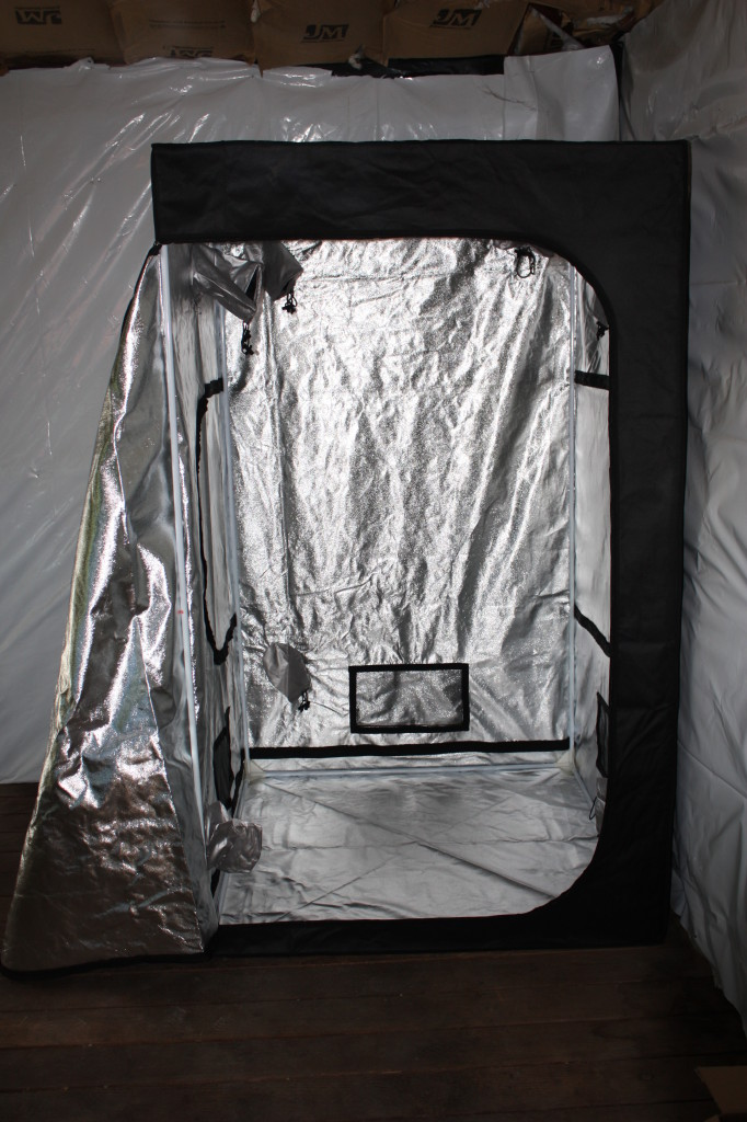 I really like the UNO Grow Tent. They are better made than many I've seen, with several vent openings that can be opened or closed as needed.
