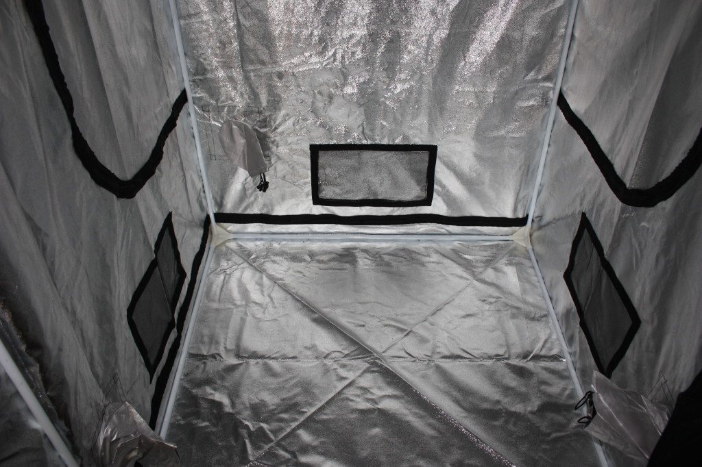 View of three of the passive vents (can be opened or closed), the three cord tunnels, and the two side panel openings.