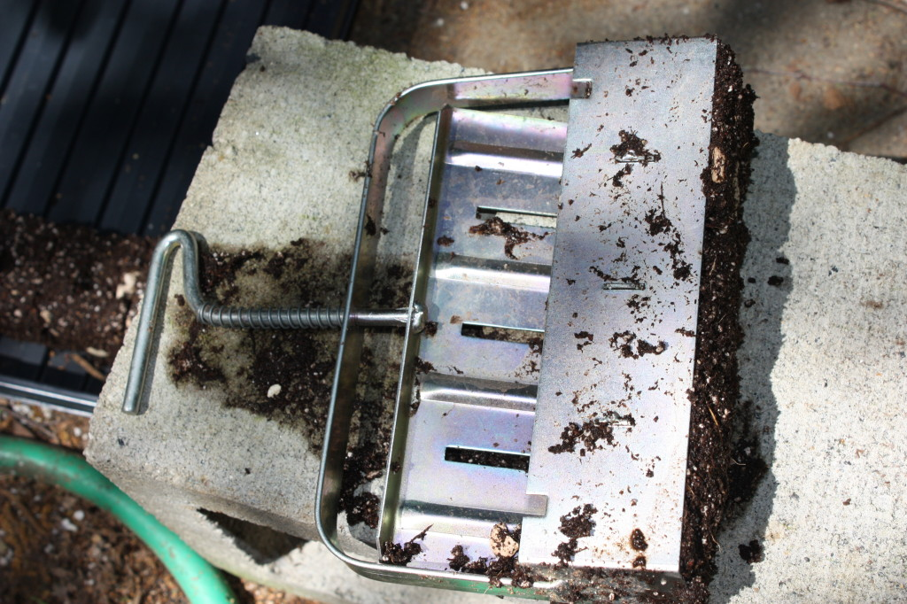 This metal soil cube press wasn't cheap, but has made many starter cubes and is still in good condition.